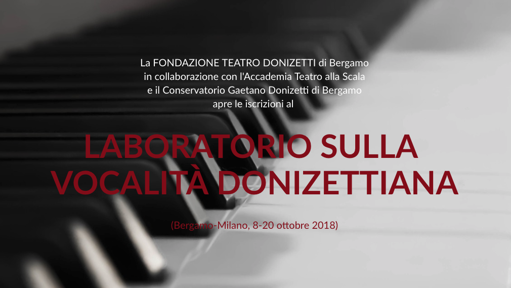 Laboratorio vocalità donizettiane 2018